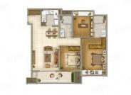 115㎡三室两厅两卫